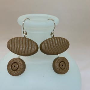 Tan Oval Earrings