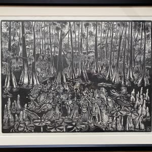 Swamp (Framed) by Linda Kelen