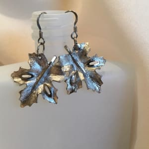 Silver Leaf Earrings by Luann Roberts Smith