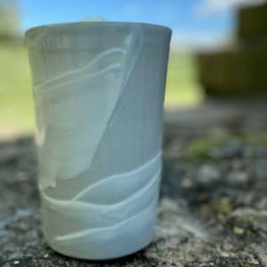 Vase (Gray/white) by Carol Naughton