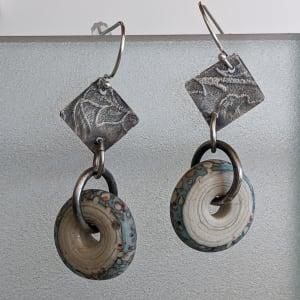 Silver/Blue Earrings by Susan Baez