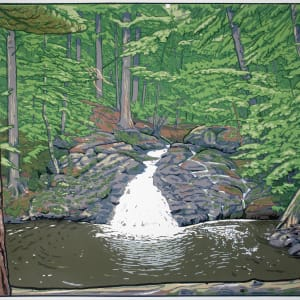 Trap Falls (Framed screen print) by John Miller