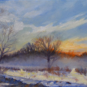 Winter Sunrise #1 (Framed Original)