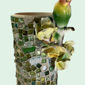 Parrot Vase by Mary Dickey