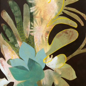 Desert Posey (Unframed, matted original) by Brit Borcher