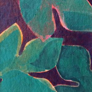 Foliage Study 3 (Unframed, matted original)