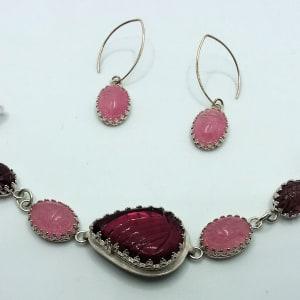 Pink Scarab Earrings by Judi Werner