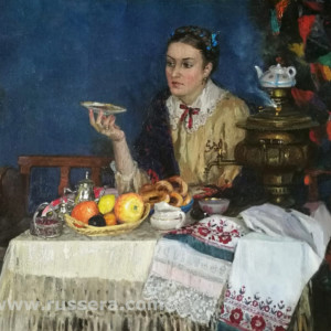 Merchant's wife by Vasily Kuraxa