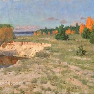 Volga. Autumn by Vasily Hudyakov