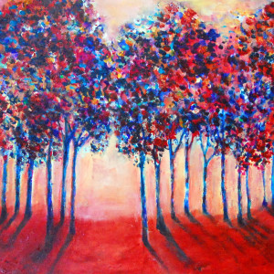 Abstract Trees by Rebecca Zdybel