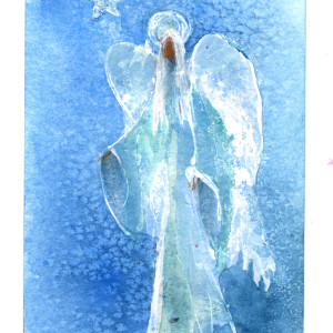 Angel with Star Christmas Card