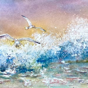 Wings and Waves at the Shoreline by Rebecca Zdybel