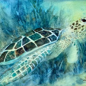 Loggerhead and Seagrass by Rebecca Zdybel