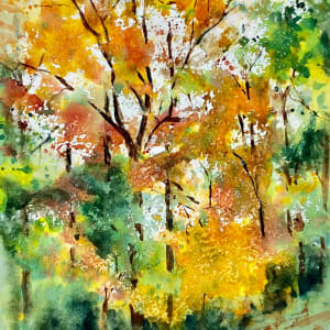 Autumn Trees: Gift of Watercolor Magic by Rebecca Zdybel