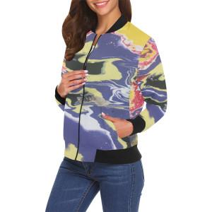 Bomber jacket abstract purple yellow uv0rp5