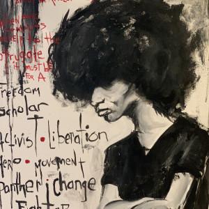 Angela Davis by Milton Madison
