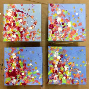 Fall Confetti no.1 by Julea Boswell Art
