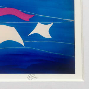 Good Drying Conditions - Matted Print by Julea Boswell Art