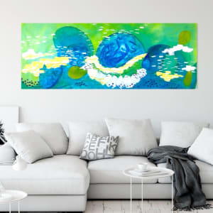Floating with the river tide by Julea Boswell Art