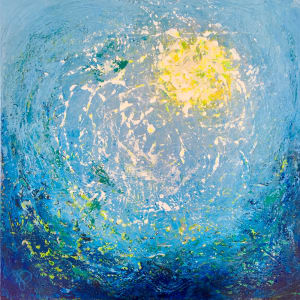 The Warm Embrace of Sea and Sun by Julea Boswell Art