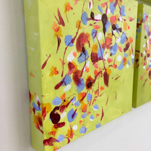 Autumn Breeze 1-2-3-4 by Julea Boswell Art  Image: Painted sides