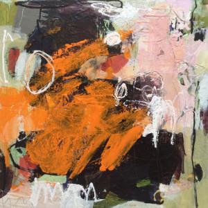 Orange black abstract full fesnro