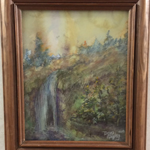 Watercolor waterfall fit5vd