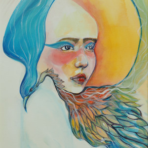 Crow Woman by Judith Estrada Garcia