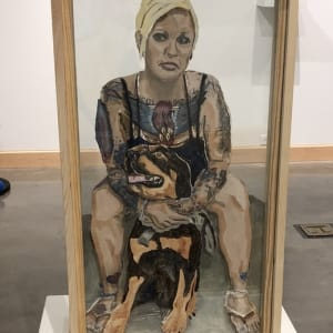 The Many Layers of PTSD, Jenna And Her Service Dog Bett by Patti Cummings