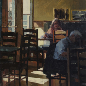 Coffee and a Paper by Lyn Boyer