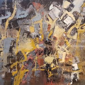 Night landing - Joburg by Richard Ketley