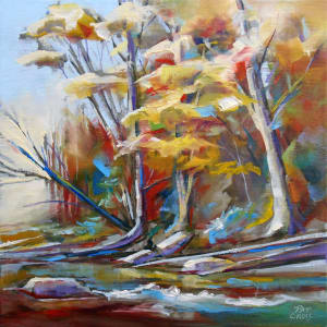 Autumn River Forest by Pat Cross