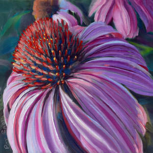 Courting Cone Flower by Pat Cross