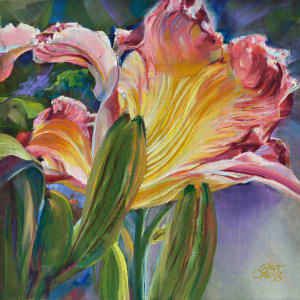 Fire Flame Daylily by Pat Cross
