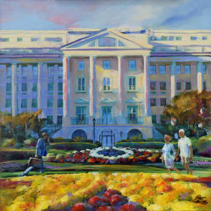 Greenbrier Hotel Holiday by Pat Cross