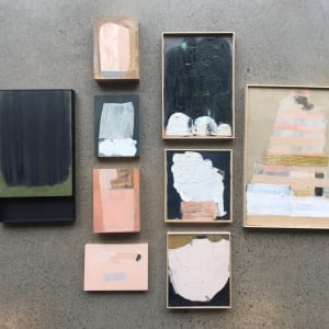 Pink shield shape by MaryAnn Puls