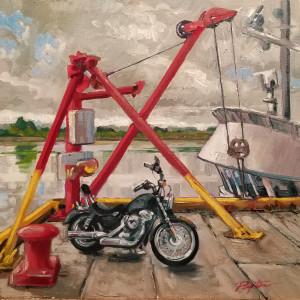 """Harley on the Dock - Steveston BC"""
