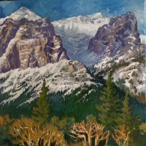 """Above Canmore - Alberta Rockies"" by Jan Poynter"