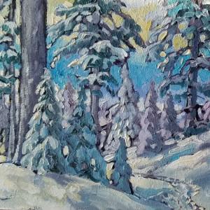 """Yellow Sky - Snowshoe trail"""