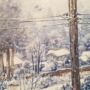 """Snow Day - view from the studio"" by Jan Poynter"