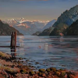"""Gambier receding "" West Howe Sound"