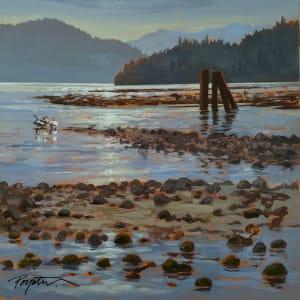 """""""3 swans - log sort""""  McNair Creek. West Howe Sound"""