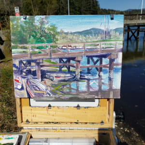 """3 boats - Porpoise Bay tidal"" by Jan Poynter"
