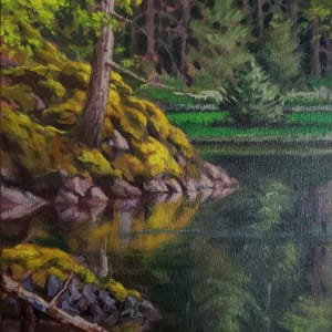 """Pond / Moss"" Coopers Green - Sunshine Coast B.C. by Jan Poynter"