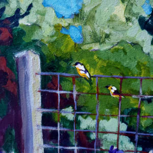 3 scraps of Yellow - American Goldfinch