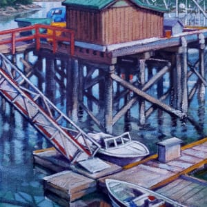 Wharf color - Madiera Park by Jan Poynter