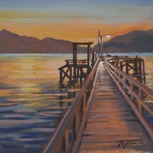 Morning Light. Hopkins wharf by Jan Poynter