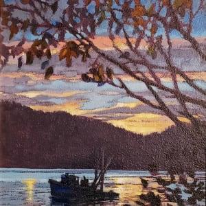 Blue Tug - Dawn by Jan Poynter