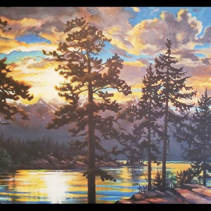 """ Howe Sound - Dawn Reflections"" by Jan Poynter"
