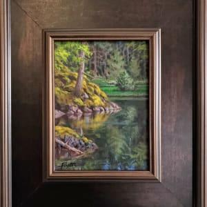 """Pond / Moss"" Coopers Green - Sunshine Coast B.C. by Jan Poynter"